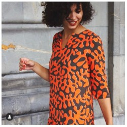 vestido naranja fluor parole